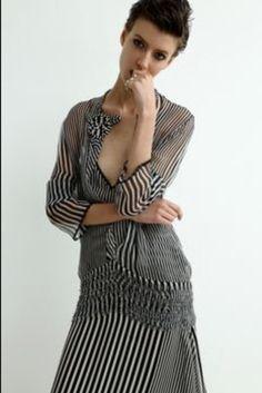 Sharon Wauchob Black and white stripe dress