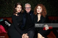Actress Lola Kirke, actor Malcolm McDowell and actress Bernadette Peters attend the 'Mozart In the Jungle' red Carpet premiere and concert held at The Grove on December 1, 2016 in Los Angeles, California.