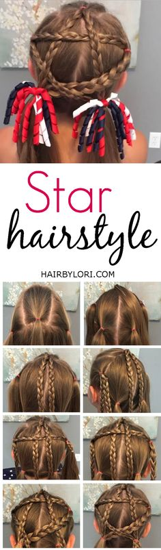 Video Tutorial: This Star Hairstyle is PERFECT for The 4th Of July!
