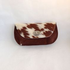 BESSY  Cow Hide Bag  Hair on Hide Leather Clutch  by margeandrudy