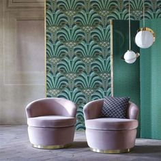 1-wallpaper-green-botanical-conway-muse-zoffany-style-library