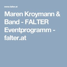 Maren Kroymann & Band - FALTER Eventprogramm - falter.at IN MY SIXTIES  live on stage in Theater Akzent Wien, Posthof Linz und Kultur im Gugg Braunau.