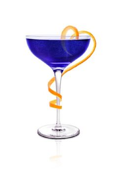 SKYY VIOLET COCKTAIL:   1.5 oz. SKYY Vodka .75 oz. Crème de Violette 3 oz. Champagne 3 dashes Angostura Orange Bitters 1 Orange twist -  Stir vodka, orange bitters, and crème de violette with ice. Strain into champagne coup or flute. Top with champagne. Garnish with an orange twist.