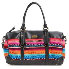 Junior Rip Curl 'Lolita' Geo Duffel Bag (€63) ❤ liked on Polyvore featuring bags, luggage and multi