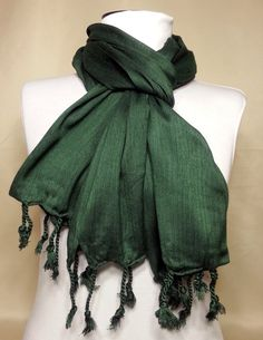 Cotton Men's Scarf  Green Scarf  Unisex Sracf  Gauze by PeraTime, $7.50 #handmadeatamazon #nazodesign