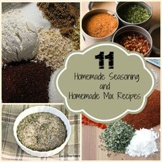 Looking for homemade seasoning recipes and homemade mix recipes? Check out this extensive collection of homemade ingredients!