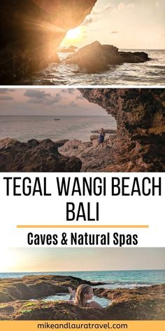 Find this hidden gem Bali destination, Tegal Wangi Beach. Filled with beach caves and natural spas, this is a truly off the beaten path destination in Bali. Bali Beach, Vacations To Go, Gili Island, Travel Route, Most Beautiful Beaches, Bali Travel, Beautiful Islands, Beach Trip, Travel Around The World