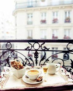 Coffee on a Parisian balcony. Coffee on a Parisian balcony. Coffee Break, Morning Coffee, Drink Coffee, Coffee Coffee, Coffee Mornings, Coffee Music, Coffee Talk, Coffee Dessert, Dessert Bread