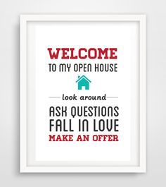 Realtor Real Estate open house sign artwork digital YOU PRINT Keller Williams by Ladyluckpr