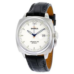 Shinola The Brakeman White Dial Leather Men's Watch S0100008 - Shinola - Shop Watches by Brand - Jomashop