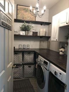 Home Interior Salas laundryroom peel and stick wallpaper from target laundry baskets from at Laundry Room Remodel, Laundry Decor, Laundry Room Organization, Laundry Room Design, Organization Ideas, Storage Ideas, Laundry Room Shelves, Small Laundry Rooms, Bathroom Laundry
