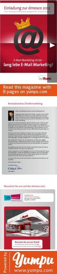 Einladung zur dmexco 2012 - Magazine with 8 pages: