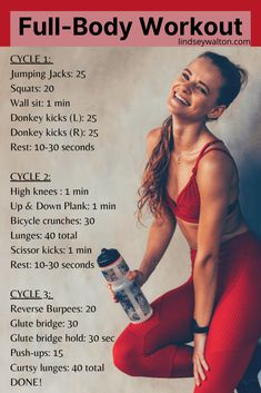 Full Body Workout Routine, Summer Body Workouts, Full Body Workout At Home, Full Body Bodyweight Workout, Hiit Workout Plan, Total Body Toning, Cardio, 30 Min Workout, Shred Workout