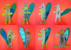 les petites têtes de l'art: D'après le drôle de renard de Katja Krumbeck
