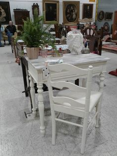 Write a Valentine to your loved  one with this great writing desk in our booth at Scott antique market.