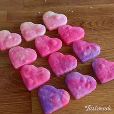 These sweet, buttery and colorful cookies fade from pink to purple and are perfect for Valentines Day! Save the recipe on our app! http://link.tastemade.com/HE7m/H1wHe4m2mA