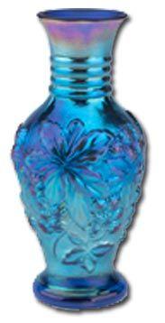Pottery & Glass Trend Mark Vtg 40s Fenton Blue Opalescent Hobnail Squat Juice Pitcher Art Glass