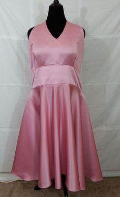 Woman Formal Braidmaid Prom Dress 20 Plus size Champagne Pink Strapless Handmade