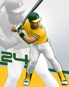 Ricky on Athletics. Maybe the greatest lead off hitter of all time Sports Baseball, Baseball Players, Softball, Baseball Cards, Mlb Uniforms, Baseball Uniforms, Dodgers, Rickey Henderson, Baseball Pictures