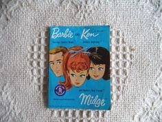 Vintage 1962 Barbie, Ken & Midge Teenage Fashion Mini Booklet Mattel Japan  #Mattel #ClothingTools