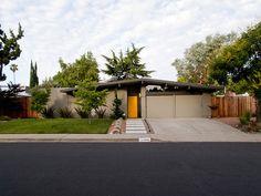 1960s Eichler ranch dream house. Love the yellow door. #midcentury #designpublic