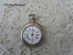 Antique chatelaine watch 1900 real silver