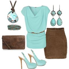 mint chocolate...yum yum!, created by lkbecker on Polyvore