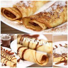 These crepes are without cereals and without dairy products. So they are gluten free . These crepes are without cereals and without dairy products. They are therefore gluten free, lactos cereals ChristmasRecipes crepes dairy Free Gluten HolidayRecip Low Carb Sweets, Vegan Sweets, Low Carb Desserts, Healthy Desserts, Low Carb Recipes, Low Carb Breakfast, Best Breakfast, Banana Breakfast, Breakfast Recipes