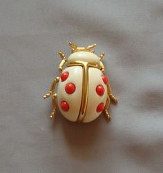 Vintage Kenneth J Lane Lucite Lady Bug Pin | eBay