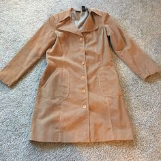 Corduroy coat! Mid length corduroy cost.  Good condition! Boutique europa Jackets & Coats
