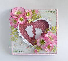 Papierowe chwile zielonejliszki, Greeting card for baby girl
