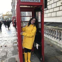 Yellow Coat, Yellow Raincoat, Yellow Rain Boots, Rain Boots Fashion, Rainy Day Fashion, Rubber Raincoats, Pvc Raincoat, Wellies Boots, Rain Gear