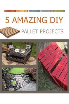 5 Amazing DIY Pallet Projects #Crafts #DIY