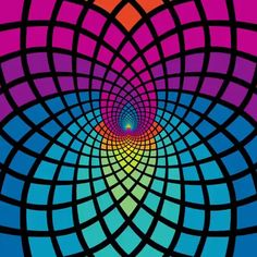 Psychedelic Aesthetic: You dont need to try a psychedelic to appreciate this awesome list of trippy visuals, optical illusions, & More! Illusion Kunst, Optical Illusion Gif, Cool Optical Illusions, Art Optical, Illusion Art, Trippy Visuals, Psychadelic Art, Pop Art Wallpaper, Psy Art