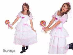 vestido de noiva infantil festa junina caipira quadrilha