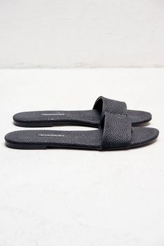 Pebbled Black Roma Sandal by Newbark