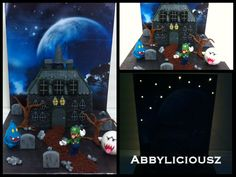 Luigi's Mansion cake with lights :) Cupcakes Super Mario, Luigi's Mansion Dark Moon, Homemade Cakes, Mario Bros, Dessert Table, Cake Pops, Macarons, Pastel, Lights