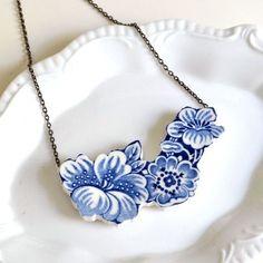 Porcelain Jewelry, Ceramic Jewelry, Glass Jewelry, Silverware Jewelry, Broken China Crafts, Broken China Jewelry, Jewelry Crafts, Handmade Jewelry, Jewelery
