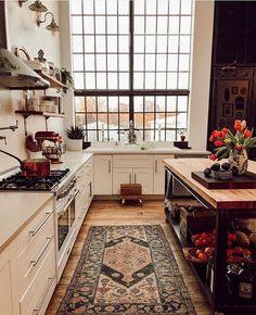 The Nordroom - A Vintage Industrial Barn Home With A Beautiful Green Velvet Sofa - Home Sweet Home - Küchen Design, House Design, Design Ideas, Flow Design, Design Homes, Design Layouts, Estilo Interior, Luxury Interior, Green Velvet Sofa