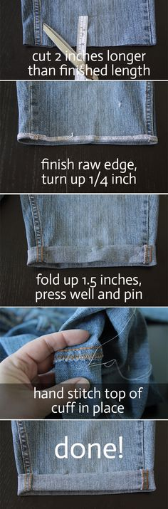 www.itsalwaysautumn.com - three methods for turning jeans into shorts in 20 minutes orless - cuffed cutoffs