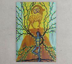24X36 Mahabhuta Yoga Festival 2015 original by artistRafiPerez