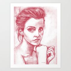 Portrait Art Print by Emily Stalley - $17.68