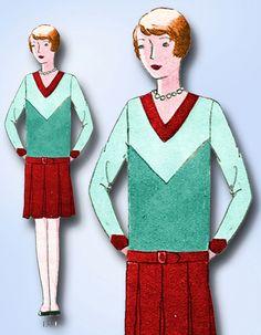 1920s VTG Butterick Sewing Pattern 1330 Uncut Girls Flapper Dress Size 10 27 B  | eBay