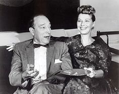 Buster Keaton laughing with his wife, Eleanor