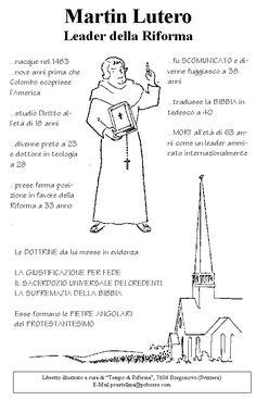 In questa immagine troviamo uno schema riassuntivo riguardante il percorso storico di Martin Lutero.