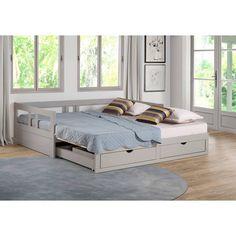 Daybed With Storage, Daybed With Trundle, Under Bed Storage, Bedroom Furniture, Bedroom Decor, Bedroom Office, Bedroom Ideas, Kids Furniture, Tiny House Furniture