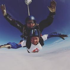 Our Membership Manager Hayley has been busy jumping out of a plane for charity! Go Hayley!  regram @mrs_hayleyb #skydiving