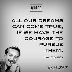 Great quote from Walt Disney. the man that made many dreams come true! Are you working on making your dreams come true? Inbound Marketing, Content Marketing, Social Media Marketing, Digital Marketing, Success Quotes, Life Quotes, Social Media Strategist, Make Dreams Come True, Great Quotes