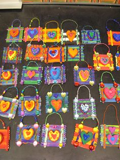 Jamestown Elementary Art Blog: 3rd Grade Jim Dine Heart Plaques