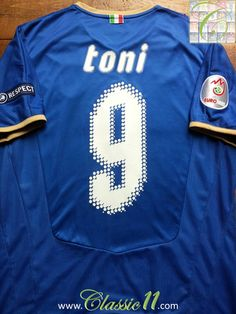 8dab64723dd Relive Luca Toni s Euro 2008 with this vintage Puma Italy home football  shirt.